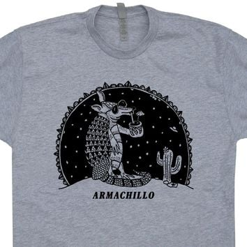 Armadillo T Shirts Armachillo Drinking Cocktails UFO T Shirts