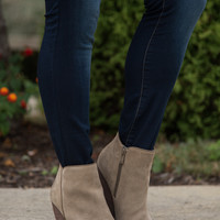 The Whitby Suede Bootie - Khaki