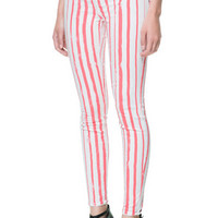PRINTED TROUSERS WITH VERTICAL STRIPES - Stock clearance - TRF | ZARA United States