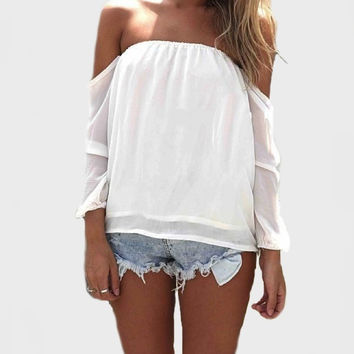 Wisteria Lane Off the Shoulder Blouse - Ivory RESTOCKED!