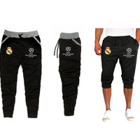 REAL MADRID UEFA CHAMPIONS LEAGUE JOGGERS SWEATS OR CAPRI 3/4 SUDADERA TRAINING PANTS