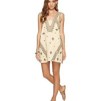 Free People Womens Embroidered Sequined Mini Dress
