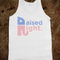 Raised Right (Faded Tank)-Unisex White Tank