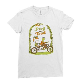 frog & toad Ladies Fitted T-Shirt