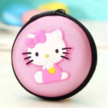 Brand New Hello Kitty Pink Cosplay Round Purse Coin Bag