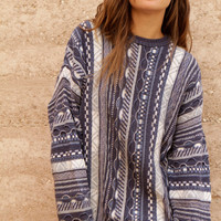 COOGI style 90s GRUNGE thick knit WOVEN nordic sweater