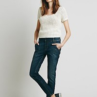 Free People Womens Buttonfront Low Slung Skinny