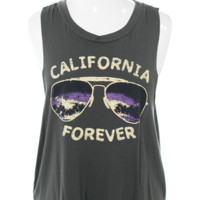 Plus Size California Forever Olive Tank Top, Plus Size Clothing, Club Wear, Dresses, Tops, Sexy Trendy Plus Size Women Clothes
