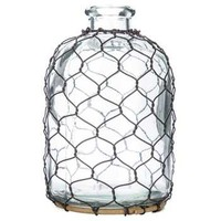 Clear Glass Bottle with Chicken Wire - Small | Hobby Lobby | 963025