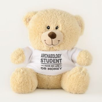 Archaeology Student No Life Money Teddy Bear