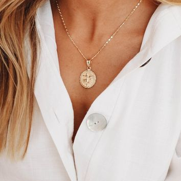 Decoded Coin Necklace