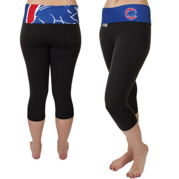 Chicago Cubs Women's Sublime Capri Pants – Black