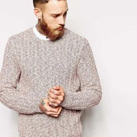 Pull&Bear | Pull&Bear Cable Knit Cardigan at ASOS