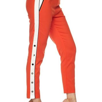 Stripe Next To You Track Pants Orange