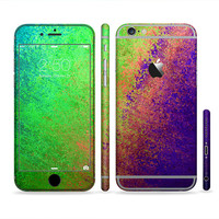 The Vivid Neon Colored Texture Six-Piece Sectioned Series Skin Set for the Apple iPhone 6 or 6 Plus