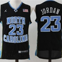 ONETOW Best Sale Online NCAA University Basketball Jersey North Carolina NC State Wolfpack # 23 Michael Jordan Black