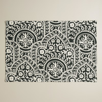 Black and White Rocco Placemats, Set of 4 - World Market