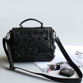 Leather Rivet Stylish Lovely One Shoulder Bags Tote Bag [4915807236]