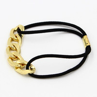 Golden Chain Rope Hair Band