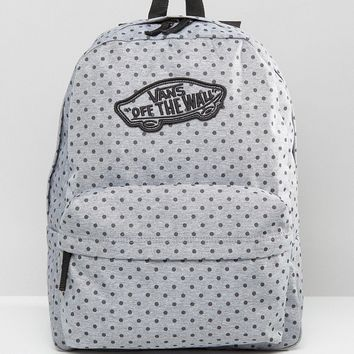 Vans Realm Backpack In Polka Dot Print