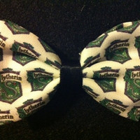 Harry Potter Slytherin Fabric Hair Bow