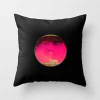 balloon love -pink Throw Pillow by agnes Trachet
