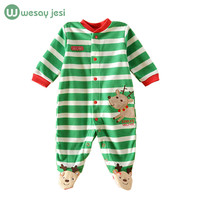 Baby rompers 2016 christmas baby winter snowsuit fleece jumpsuit animal infant coveralls newborn boy girl clothes baby clothing