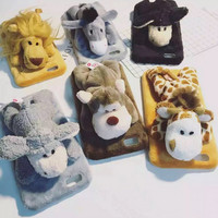 Soft Comfortable Warm Doll Toy Plush Case Cover For iPhone