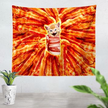 Bacon Cat Tapestry