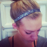 Happi Bands - Headband - Shimmery Black/Silver