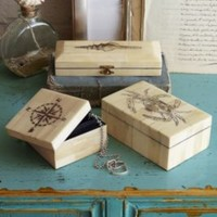 Scrimshaw Boxes - Accessory Boxes, Jewelry Boxes | Soft Surroundings