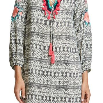 THML Embroidered Printed Dress
