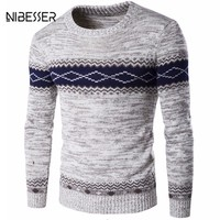 Mens Long Sleeve O-Neck Pullover Sweater