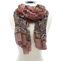 PAISLEY & FLORAL PRINT SCARF