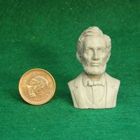 Miniature Dollhouse Honest Abe Bust