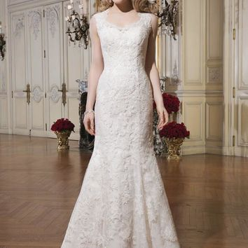 Justin Alexander 8656 Venice Lace Fit and Flare Sample Sale Wedding Dress