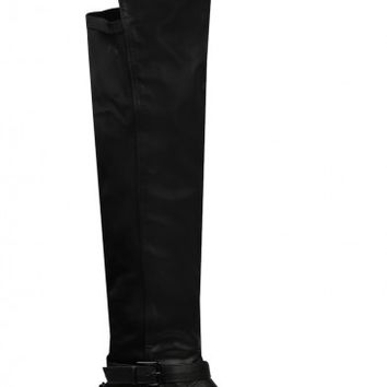 My Way Or The High Way Faux Leather Knee High Boot | LASULA