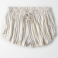 Don't Ask Why Striped Dolphin Short, Cream