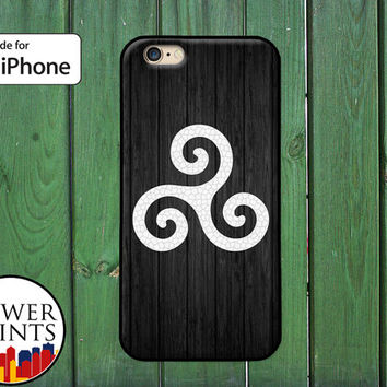Triskelion Symbol Teen Wolf Inspired Symbol Alpha Accessory For Rubber iPhone 4 and 4s and iPhone 5 and 5s and 5c and iPhone 6 and 6 Plus +