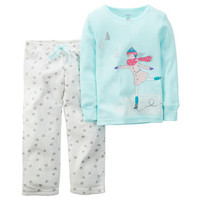 2-Piece Cotton & Fleece PJs
