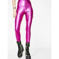 Fucshia Chose Party Life Leggings