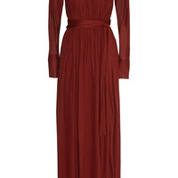 Lanvin - Ruched jersey gown