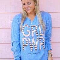 Jadelynn Brooke GRL PWR - Heather Blue - Long Sleeve shirt