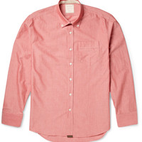 Billy Reid - Button-Down Collar Cotton-Chambray Shirt | MR PORTER