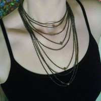 Black Layered Chain Choker Necklace