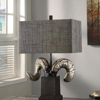 Crestview Bighorn Sheep Table Lamp - CSAUP770