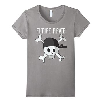 Future Pirate Skull and Crossbones T Shirt