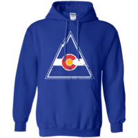 Colorado Rockies Hockey Inspired Royal Pullover Hoodie