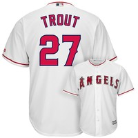 Majestic Los Angeles Angels of Anaheim Mike Trout Cool Base Replica MLB Jersey