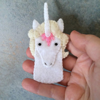 The Last Unicorn Unicorn Felt Finger Puppet